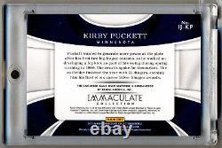 2017 Immaculé Collection Kerby Puckett Jeu Utilisé Jersey Logo Patch 1/1 Amazing