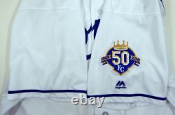2018 Kansas City Royals Mike Moustakas #8 Jeu Utilisé Maillot Blanc 50 Miedema Loa