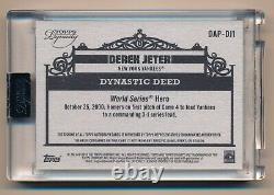 2019 Dynasty Derek Jeter Topps Encased Jeu Utilisé Patch Auto # 7/10