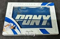 2019 Immaculé Jumbo Cleats George Brett Pony Logo Patch Trou 1/1