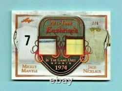 2019 Leaf In The Game Carte Jersey Enchâssée Pour Tous Les Temps! Manteau Nicklaus! #2/6