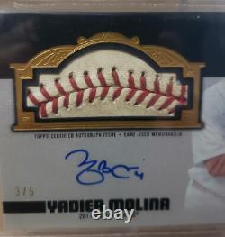 2019 Topps Dynasty Yadier Molina Jeu Utilisé 2011 World Series Baseball Auto #/5
