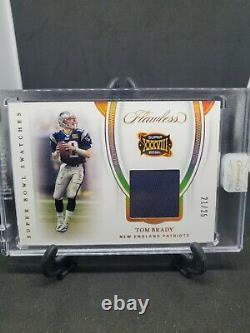 2020 Flawless Tom Brady Patriots Super Bowl XXXVIII Jeu Utilisé Jersey /25