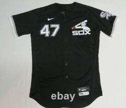 2020 Gio Gonzalez Chicago White Sox Jeu D'occasion Worn Spring Mlb Baseball Jersey