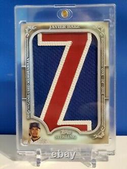 2020 Javier Baez Jumbo Jersey Letter Patch In The Name Sterling Jeu Utilisé 1/1