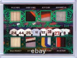 2020 Leaf In The Game Used Mays Bonds Marichal Kent 8 Bat Patch Relic /4 #tff-11