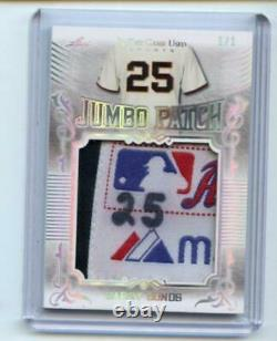 2020 Leaf In The Game Used Sports Jumbo Patch Barry Bonds 1/1