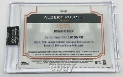2020 Topps Dynasty Albert Pujols Autograph Jeu Utilisé Patch Angels Logo 2/5 Malade