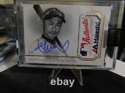 2020 Topps Dynasty Ichiro 1/1 Jeu Utilisé Majestic Tag Auto Rare Mint