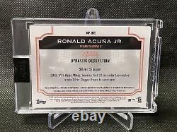 2020 Topps Dynasty Ronald Acuna Jeu Utilisé Mlb Postseason Patch Auto 3/5 Braves