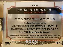 2020 Topps Dynasty Ronald Acuna Jr 2/5 Auto All-star Game Ball Cuir