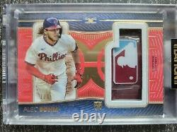 2021 Topps Definitive Rookie Casque Relic Alec Bohm 1/1 Game Used Mlb Logoman