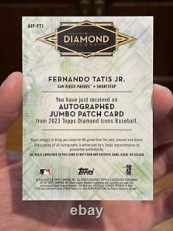 2021 Topps Fernando Tatis Jr Diamond Icônes /10 Auto Dirty Game Used Patch Mint