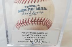 Albert Pujols 2981e Succès En Carrière, Jeu Utilisé Simple Baseball, Mlb Authentifié