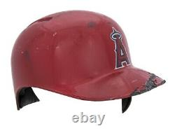 Albert Pujols Jeu Angels Usagés Casque Batting Matched To 33 Jeu, Records (rare)