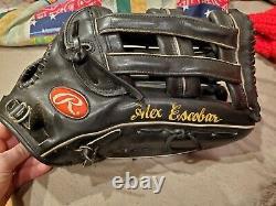 Alex Rawlings Escobar Jeu Utilisé Baseball Gant Métastases Venezuelen Mlb Pro302 6jb