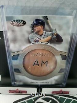 Austin Meadows 2020 Topps Tier One Jeu Occasion Bateau D'occasion Relique 1/1 Tampa Bay Rays