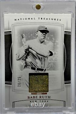 Babe Ruth 2020 National Treasures Matériel De Jeu Game-worn/used Jersey #20/25