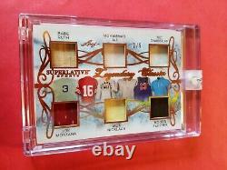 Babe Ruth Bat Joe Montana Muhammad Ali Wilt Jack Nicklaus Jersey Card #2/9 Leaf