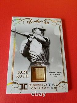 Babe Ruth Game Utilise Bat Card #d4/5 2017 Collection Immortale Des Feuilles Ny Yankees