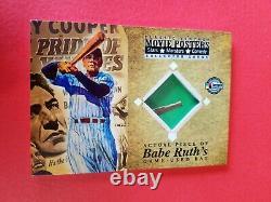 Babe Ruth Jeu Utilisé Bat Card 2009 Affiches De Cinéma Pride Of The Yankees New York