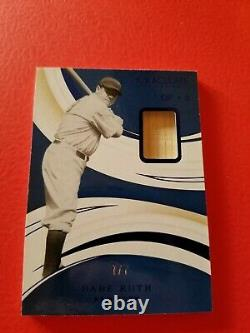 Babe Ruth Jeu Utilisé Bat Card #d7/7 2020 Immaculate New York Yankees