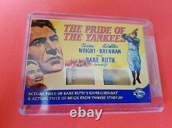 Babe Ruth Jeu Utilisé Bat & Yankee Stadium Brick Card 2009 Breygent Movie Posters