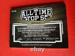 Babe Ruth Mickey Mantle Ted Williams Willie Peut Mike Trout Jersey Bat Card #2/7