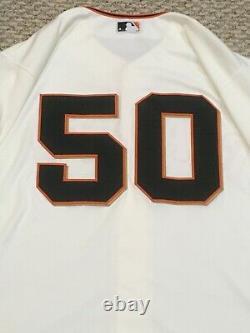 Blach Taille 46 #50 2019 San Francisco Giants Jeux Utilisés Cream Jersey Mlb