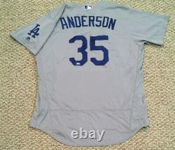 Brett Anderson Taille 48 #35 2016 Los Angeles Dodgers Jeux Utilisés Jersey Éliminé Mlb