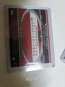 Buster Posey 2011 Topps Triple Threads Jeu Utilisé Bat Autographe Auto /99 Giants