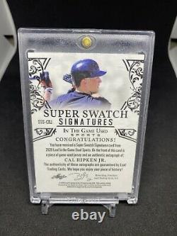Cal Ripken Jr Leaf In The Game Used Auto Autographié Jersey Card /4