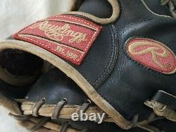 Cesar Izturis Jeu Utilisé Worn Rawlings Baseball Fielding Glove Los Angeles Dodger