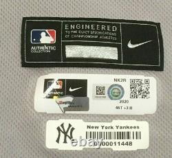 Chapman Taille 46 #54 2020 New York Yankees Jeu Utilisé Maillot Délivré Route Hgs Mlb