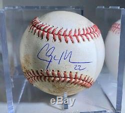 Clayton Kershaw Jeu De Baseball Des Dodgers Anciens Et D'occasion 08/09/15 Mlb Psa Authentification