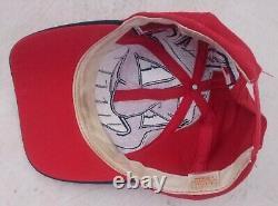 Cleveland Indians Vintage Wool The Game Big Logo Mlb Baseball Snapback Hat Wahoo