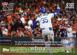 Cody Bellinger World Series Jeu Utilisé Base Relic 2017 Topps Maintenant 838e 3/5 Son #35