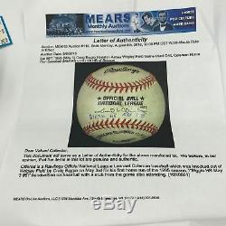 Craig Biggio Jeu Utilisé Actual First Home Run Baseball 3 Mai 1995 Avec Mears Coa