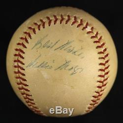 Début De Carrière 1950 Willie Mays Signé Jeu Utilisé Nl Giles Baseball Jsa Coa Auto