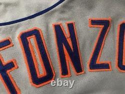 Edgar Alfonzo New York Mets 1996 Signé Jeu D'occasion Jersey