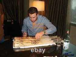 Evan Longoria Jeu Signé Utilisé Batte De Baseball Tampa Bay Rays Mlb Assermentée