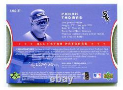 Frank Thomas 2004 Ud Upper Deck Sp Jeu Utilisé All-star Auto Dual Jersey Patch /10