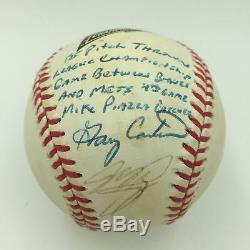 Gary Carter Et Mike Piazza Signed 1999 Nlcs Premier Lancer Jeu Utilisé Baseball Psa
