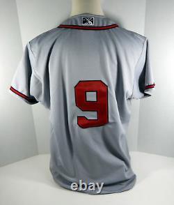 Gwinnett Braves #9 Jeu Utilisé Maillot Gris