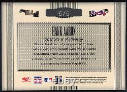 Hank Aaron 2005 Timeless Treasures Hof Game-used Jersey Auto # 5/5 Braves 44