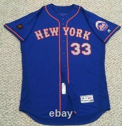 Harvey Taille 48 #33 2018 New York Mets Jeu Utilisé Jersey Alt Route Bleu Mlb Holo