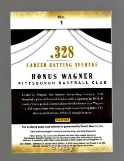 Honus Wagner 2014 Immaculée Collection Accolades Game-used Bat Relic #7/20