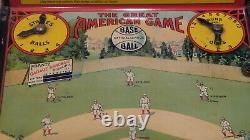 Hustler Baseball The Great American Baseball Game Tin Litho Avec Boîte Originale