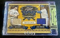 Jackie Robinson/lou Gehrig 2008 Playoff Prime Cuts (07/25)jeu Used Jersey Card