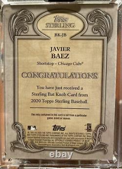 Javier Javy Baez 2020 Topps Sterling 1/1 Bat Knob Jeu Utilisé Vrai 1-de-1 Cubs
